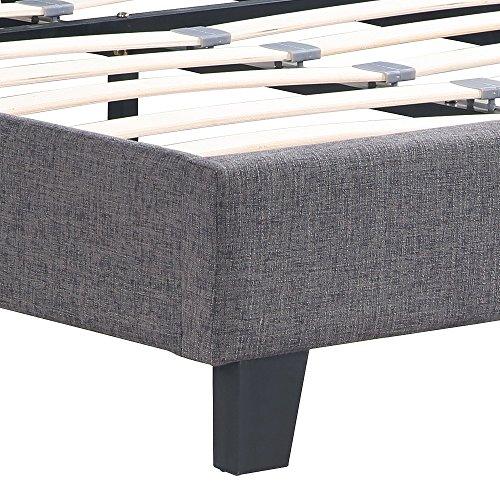 ikayaa polsterbett doppelbett bett ohne matratze 2 farbe optional f r doppelbettmatratze queen. Black Bedroom Furniture Sets. Home Design Ideas
