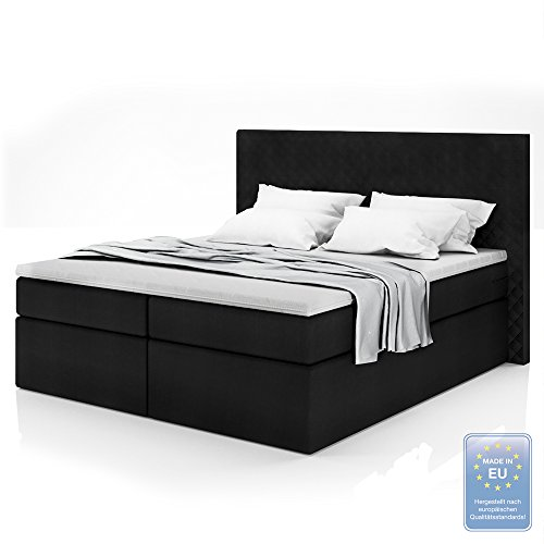 boxspringbett design doppelbett polsterbett bett hotelbett. Black Bedroom Furniture Sets. Home Design Ideas
