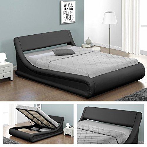 kansas doppelbett polsterbett mit gasdruckfeder bettkasten. Black Bedroom Furniture Sets. Home Design Ideas