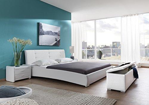 sam design polsterbett bastia in wei 180 x 200 cm. Black Bedroom Furniture Sets. Home Design Ideas