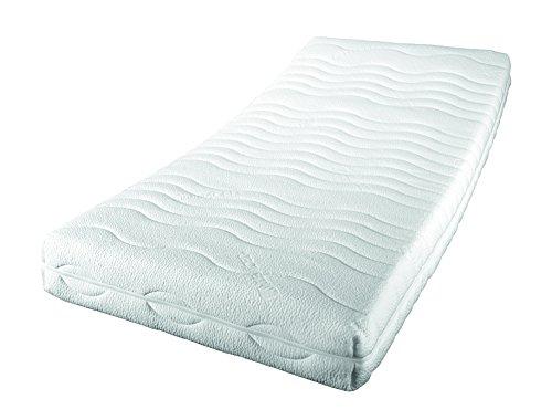 sleepdream premium ks 7 zonen komfortschaum matratze polyester viskose weiss gelschaum topper. Black Bedroom Furniture Sets. Home Design Ideas