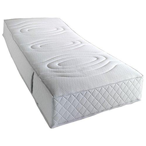 f a n 7 zonen tonnentaschenfederkernmatratze komfort 1000 t h2 mittel gelschaum topper. Black Bedroom Furniture Sets. Home Design Ideas