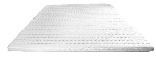 premium gelschaum topper 180x200 cm mit rg 50 hochwertiger tencel bezug antirutschfunktion. Black Bedroom Furniture Sets. Home Design Ideas