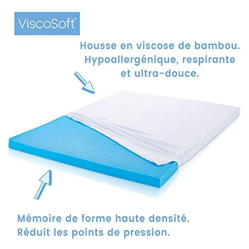 viscosoft matratzenauflage memory schaum mit gel micro ingekapseld 180 x 200 cm gelschaum. Black Bedroom Furniture Sets. Home Design Ideas