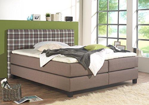 maintal boxspringbett pinot 200 x 200 cm stoff 7 zonen. Black Bedroom Furniture Sets. Home Design Ideas