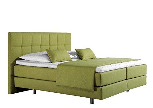 maintal boxspringbett neon 100 x 200 cm strukturstoff 7 zonen kaltschaum matratze h3 lemon. Black Bedroom Furniture Sets. Home Design Ideas