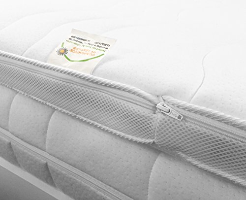 h2 topper matratzenauflage 140x200 kaltschaum mit bezug. Black Bedroom Furniture Sets. Home Design Ideas