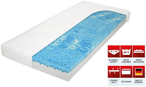 matratzenheld 3d gelschaummatratze herkules 90x200 fest h3 bis 120 kg ergonomische 7 zonen. Black Bedroom Furniture Sets. Home Design Ideas