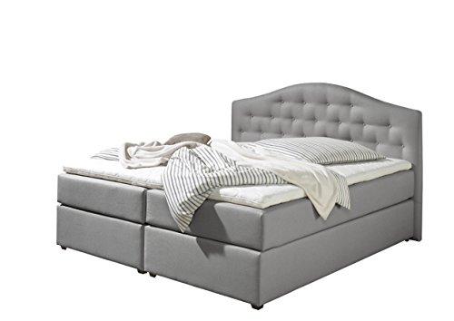 maintal boxspringbett amber 180 x 200 cm stoff 7 zonen taschenfederkern matratze h2 grau. Black Bedroom Furniture Sets. Home Design Ideas