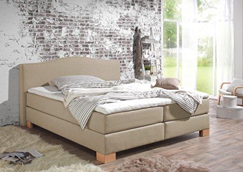maintal boxspringbett franklin 140 x 200 cm stoff 7. Black Bedroom Furniture Sets. Home Design Ideas