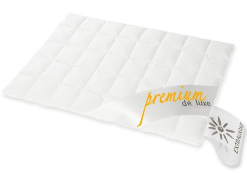 premium de luxe daunendecke sommer gelschaum topper. Black Bedroom Furniture Sets. Home Design Ideas